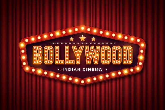 現実的なボリウッド映画館のサイン