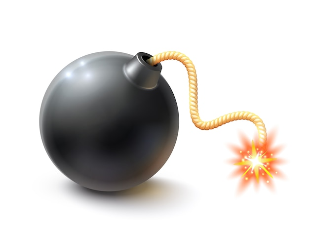 Realistic bomb illustration