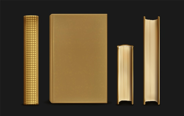 Реалистичная коллекция книг и корешков