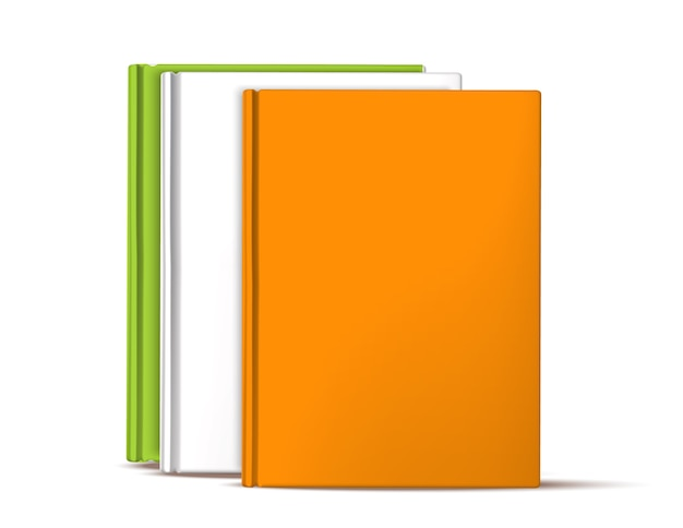 Реалистичные книги, стоящие в ряду