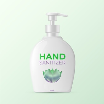 Realistic bottle of hand sanitizer