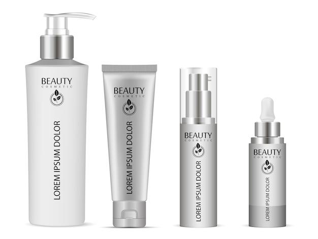 Realistic bottle mock up set for essential oil