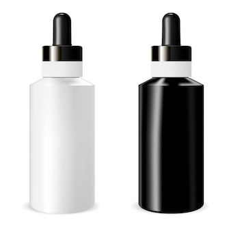 Realistic bottle with dropper.