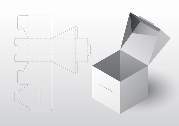 Modello fustellato confezione scatola realistica