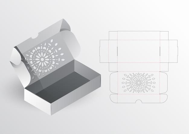 リアルなボックス包装ダイカットテンプレート