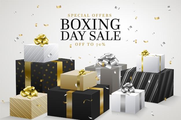 Реалистичная распродажа ко дню бокса