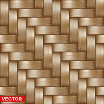 Realistic braided wooden wicker seamless texture