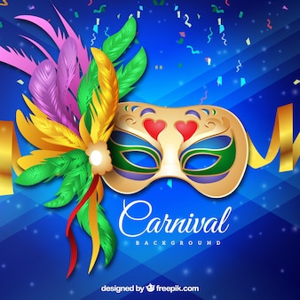 Realistic brazilian carnival background