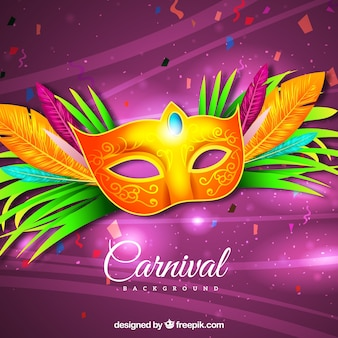 Реалистичный бразильский карнавальный фон