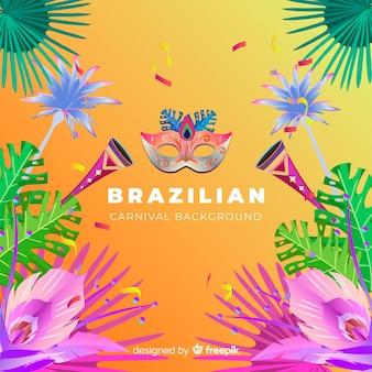Realistico sfondo di carnevale brasiliano