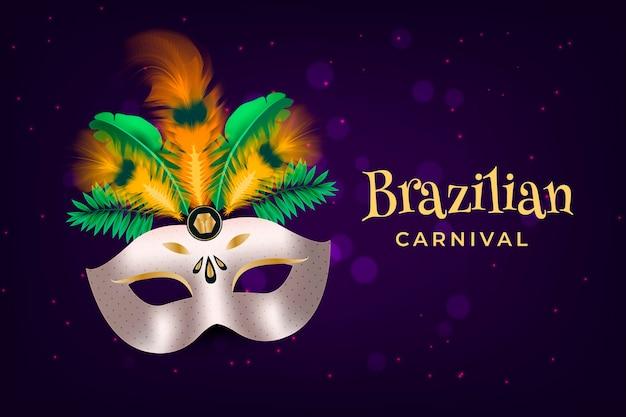Realistic brazilian carnival concept
