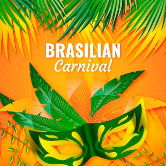 Realistic brazilian carnival event theme
