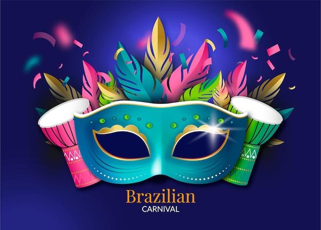 Carnevale brasiliano realistico illustrato