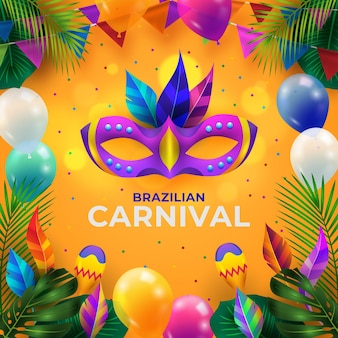 Realistic brazilian carnival illustration