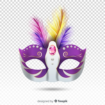 Realistic brazilian carnival mask