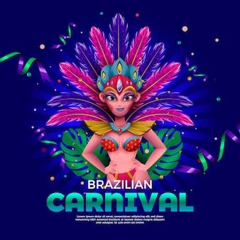 Modello realistico di carnevale brasiliano