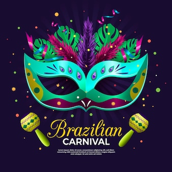 Реалистичный бразильский карнавал шаблон