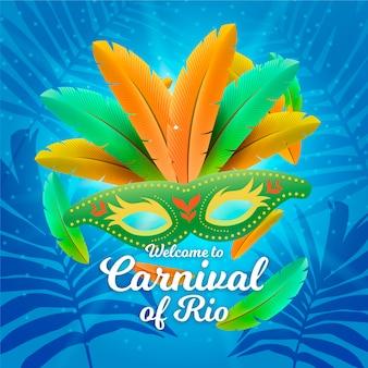 Realistic brazilian carnival theme