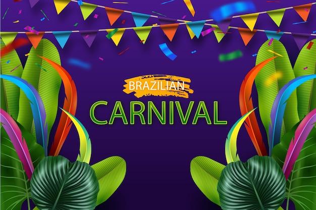 Realistic brazilian carnival