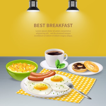 Realistic breakfast