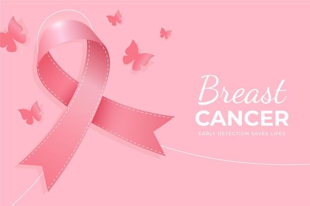 현실적인 유방암 인식의 달 배경