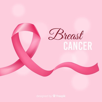 Realistic breast cancer ribbon
