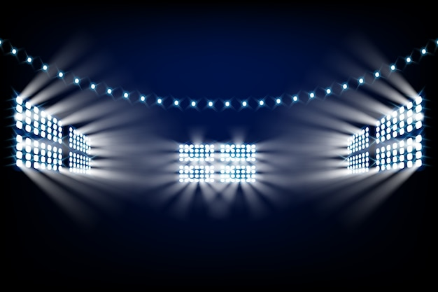 Realistic bright stadium lights