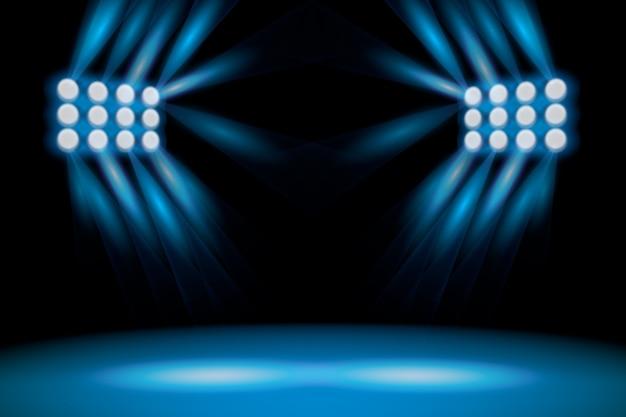Realistic bright stadium lights