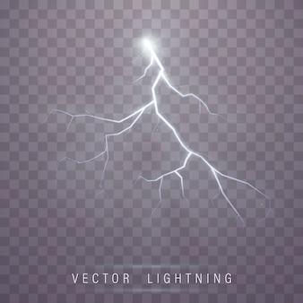 Realistic brilliant lightning flash effect