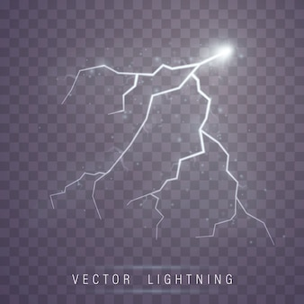 Realistic brilliant lightning flash effect