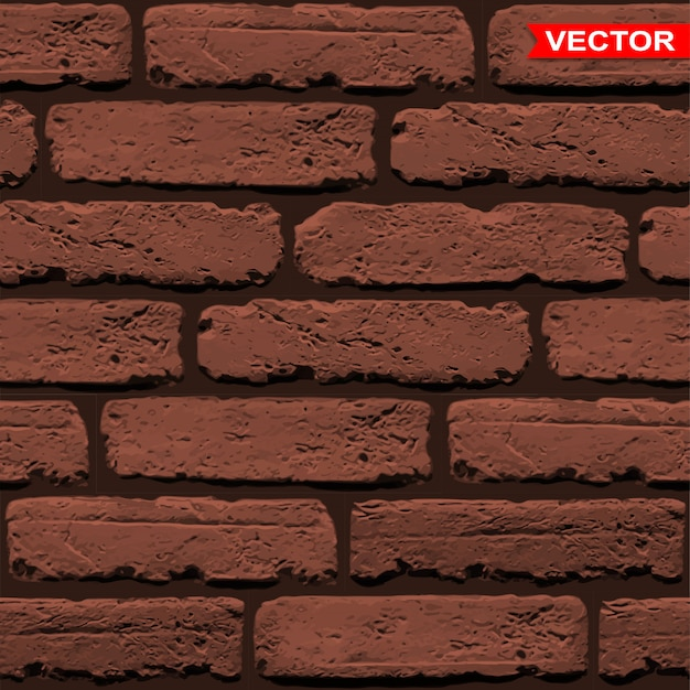 Realistic brown brick wall texture background