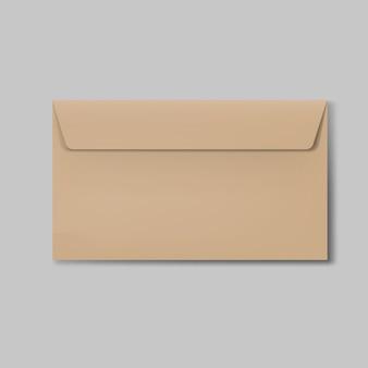 Realistic brown closed envelope