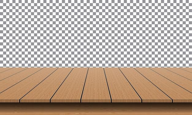 제품 프리젠 테이션을위한 현실적인 갈색 나무 테이블 빈 상단