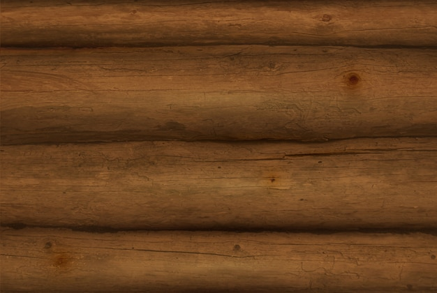 Realistic brown wooden logs