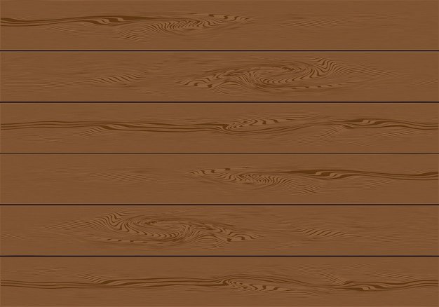 Realistic brown wooden plank background
