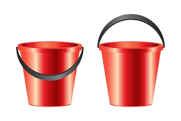 Realistic bucket illustration isolated on white