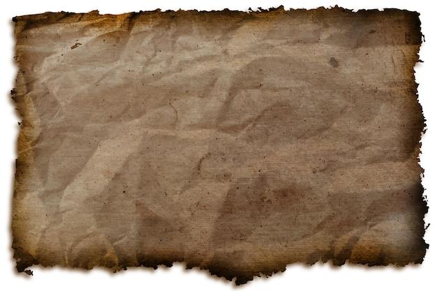 Texture realistica della carta bruciata