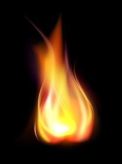 現実的な燃焼炎半透明要素