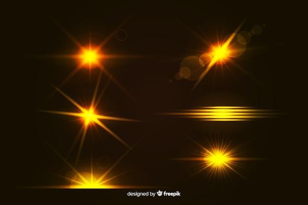 Realistic burst of light collectio