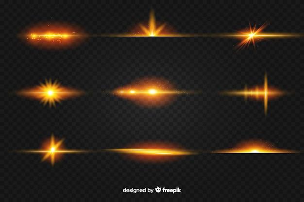 光のリアルなバーストコレクション