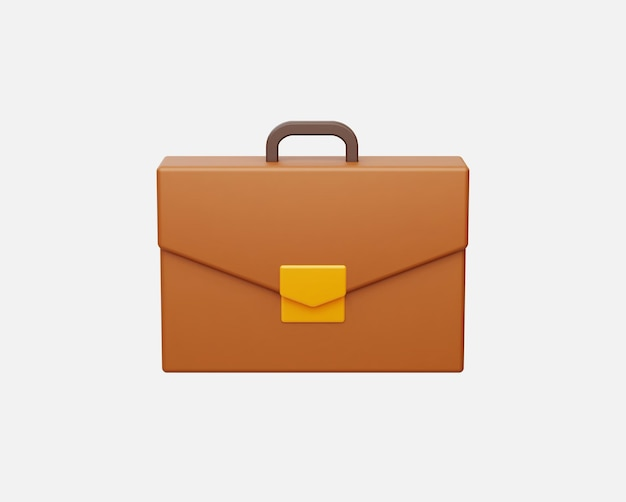 Realistic business briefcase vector illustration in 3d style.
