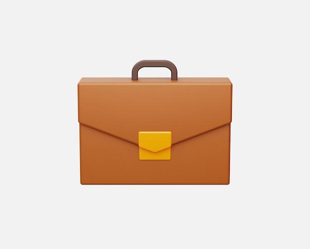 3d 스타일의 현실적인 비즈니스 서류 가방 벡터 일러스트입니다.