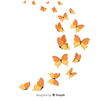 현실적인 나비 비행 일러스트 레이션