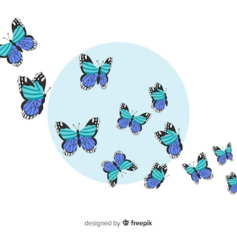 Realistic butterfly background