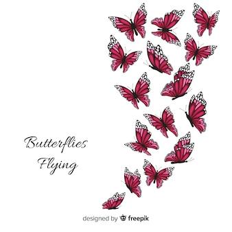 Реалистичная коллекция бабочек