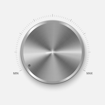 Realistic button with circular processing.