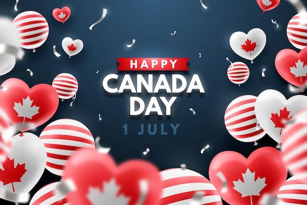 Реалистичный день канады фон
