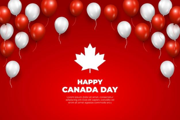 현실적인 캐나다의 날 풍선 배경