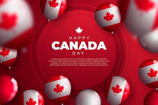 Реалистичные воздушные шары день канады