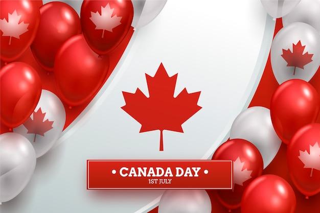 現実的なカナダの日風船の背景